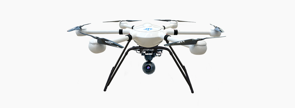 JTT T60V2 aerial photography drone camera black white front view