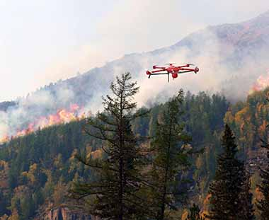 forest firefighting drone JTT UAV