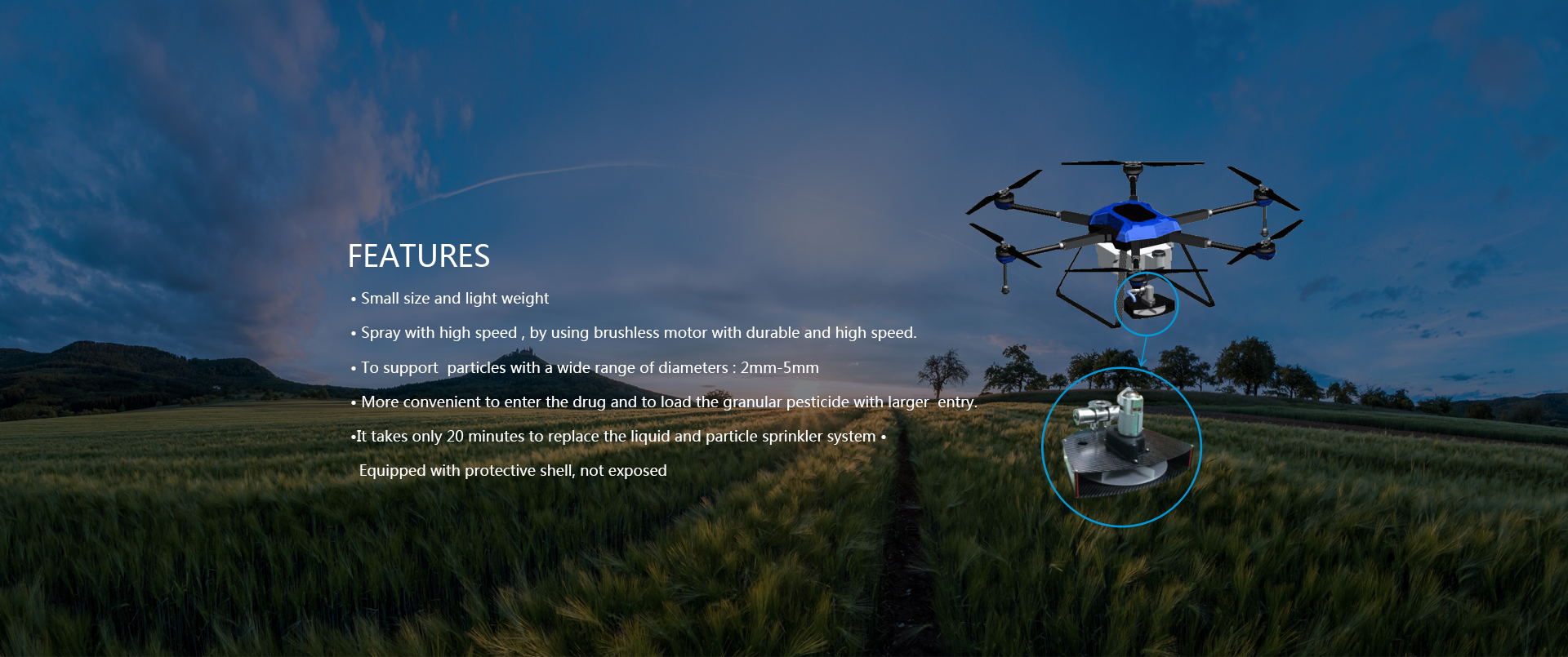 JTT A15 agricultural drone UAV crop spraying drone