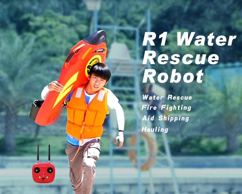 Meet R1, the water rescue robot transports 0.5 tons of goods