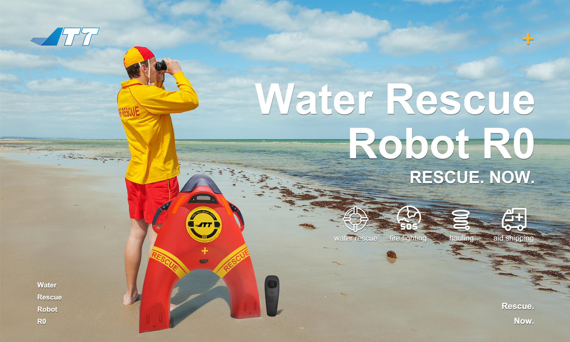 Water rescue robot R0 to meet the needs of Emergency Department in incoming monsoon